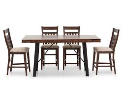 Urban Dining Room Table - urban lodge 5 pc slat back counter height dining room set