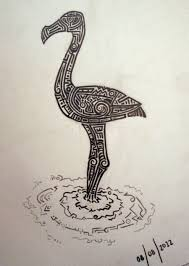 15 tribal flamingo tattoos