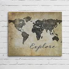 Canvas Map Of The World by World Map Canvas Or Graphic Print