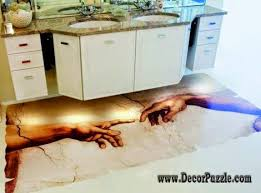 unique bathroom flooring ideas 3d bathroom floor murals designs and self leveling floors