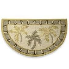 Palm Tree Bathroom Rug 3pc Tropical Palm Tree Bathroom Rug Set Bath Mat U Shaped Mat Lid