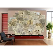 Vintage Map Wallpaper by Creative Collage Designer 64 Piece Wall Mural U2013 New York Vintage