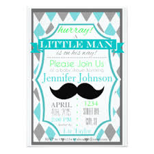 mustache baby shower mustache baby shower invitations announcements zazzle