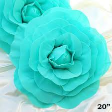 turquoise flowers 20 real touch turquoise artificial foam paper diy 3d