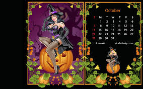 halloween calendar wallpapers for desktop wallpapersafari