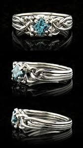 about wedding rings images Unique engagement rings celtic blue diamond puzzle engagement jpg