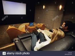 in home theater couple in home theater stock photo royalty free image 6290408