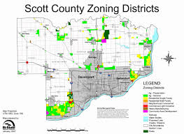 Buffalo State Map by Zoning Scott County Iowa
