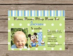 mickey mouse clubhouse birthday invites printable mickey mouse 1st birthday invitation