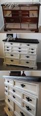 best night stand redo ideas pinterest nightstand distressing lovely distressed dresser makeover she used krylon ivory for the