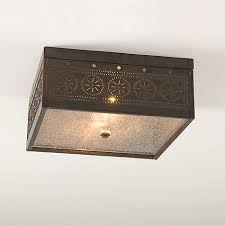 Tin Ceiling Lights Colonial Country And Primitive Ceiling Lighting