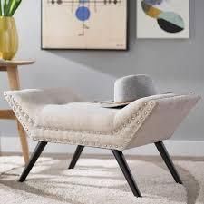 mercury row coggin upholstered ottoman u0026 reviews wayfair