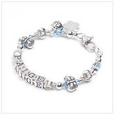 baby name bracelet flutterbye baby children s name bracelet with butterfly