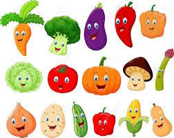 cartoon fruit and vegetable images cartoon vegetables vector