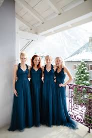 winter bridesmaid dresses a snowy winter wedding with a packham muscari dress and navy