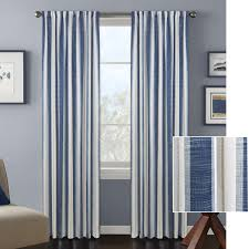 better homes and gardens vertical stripes window curtain panel ebay