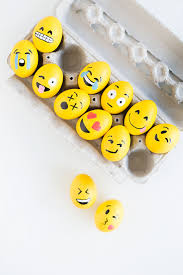 Make Decorated Easter Egg Ideas by Easter Egg Craft How To Make The Cutest Emoji Easter Eggs Egg