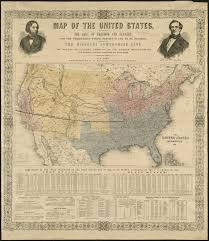 Civil War States Map Before The War U2013 Rising Tensions Torn In Two Mapping The