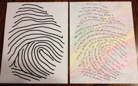 writing paper 3rd grade writing projects thumbprint biographies i capture the rowhouse photo 2 13