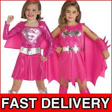 Supergirl Halloween Costumes Pink Batgirl Supergirl Girls Superhero Fancy Dress Kids Halloween