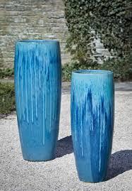 sabine tall planter in bahama blue by campania international