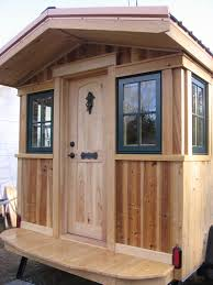 Tumbleweed Tiny Houses by Exterior Design Simple Tumbleweed Tiny House With Oak Wood Front