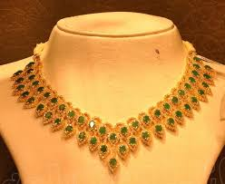 emeralds and necklace by malabar gold jewellery designs