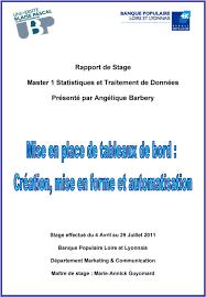 banque populaire loire et lyonnais si e rapport de stage master 1 statistiques et traitement de données