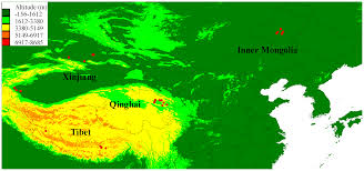 Tibetan Plateau Map Hypoxia Adaptations In The Grey Wolf Canis Lupus Chanco From