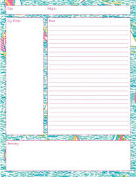 Note Sheet Template Lilly Note Taking Printables Also In Impression Get Nauti