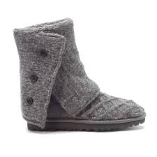womens ugg lattice boots ugg australia s lattice cardy boots in charcoal faballfab