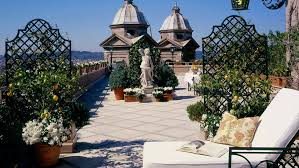 rooftop terrace at hotel hassler roma rome italy spotlight
