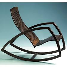Modern Wood Chair Furniture Contemporary Armchair Wooden Rocker Gaivota By Renaud Bonzon