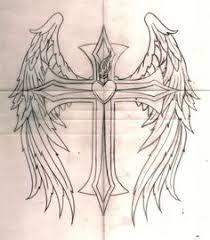 marketplace tattoo cross with wings 14700 createmytattoo com