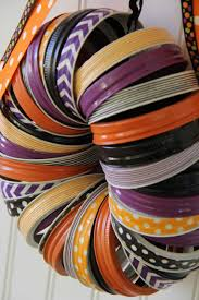 halloween rings halloween washi tape and mason jar rings wreath tgif this