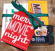 merry movie night printable gift tag for a movie night gift with