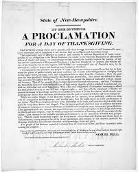 thanksgiving proclamation book printed material new hampshire library of congress