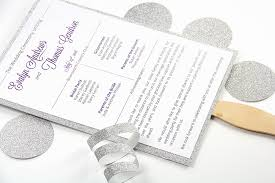 paper fan wedding programs make your own glitter layered wedding program fan