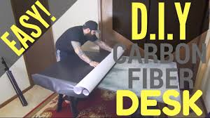 Diy Mdf Desk How To Make Your Own Diy Carbon Fiber Vinyl Wrap Mdf Desk Tutorial