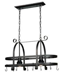 solid lighted pot rack with reinforced grids and hooks allows to