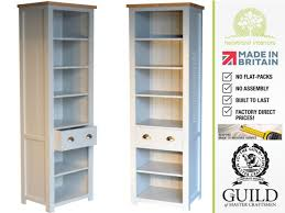 Tall Narrow Bookcase by Furniture Painted Pine Tall Narrow Bookcase With Drawer For Best