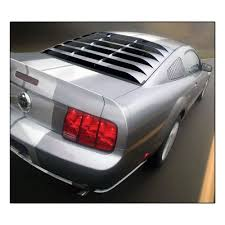 Black 2005 Mustang Mrt 12a044 Mustang Rear Window Louvers Black Coupe 2005 2014