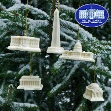 washington dc memorial ornament set