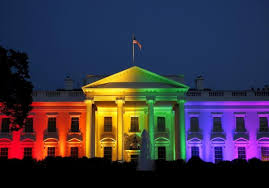 white house lights up with pride colors following historic