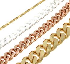 mens gold curb necklace images Curb chain bracelet 18ct rose gold doubl 5 5 mm 0 22 quot length 16 jpg