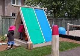 playhouse made from recycled doors earthscape toronto canada