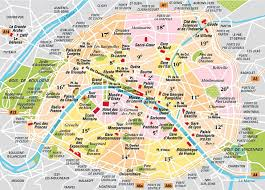map of pairs map in major tourist attractions maps