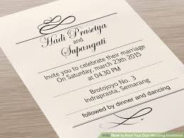 how to make your own wedding invitations print your own wedding invitations gangcraft net