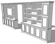 wall unit plans february 044 jpg built in wall storage pinterest tv walls