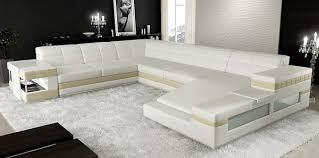 canap panoramique 10 places enzo canapé d angle design cuir